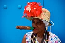 cigar-lady-on-blue-havana-cuba-copyright-2010-ralph-velasco