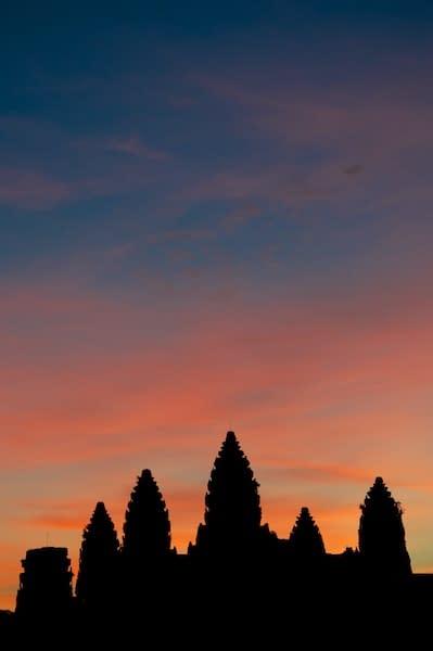 Angkor Wat at Sunrise - Portrait - Siem Reap, Cambodia - Copyright 2012 Ralph Velasco (1)