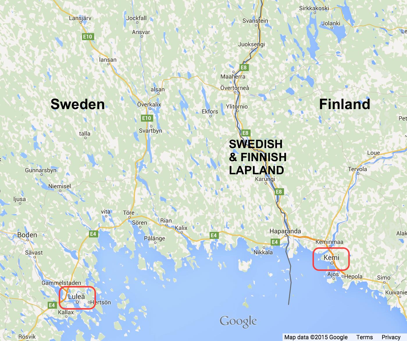 Lapland Map Lulea
